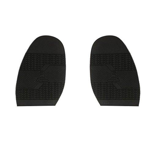 Paire de Demi-Semelle Caoutchouc Avant-pied de Chaussure Réparation de Chaussures Artisanat Diy - 3, 2mm