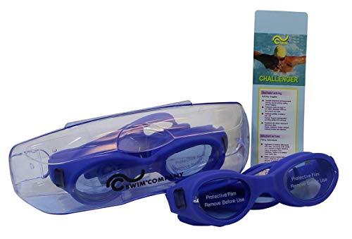 SWIM Lunettes de Natation avec étui de Protection Lunettes de Natation Verres Anti-Fog et Anti UV 100% pour Adultes, pour Homme et Femme, garçon.