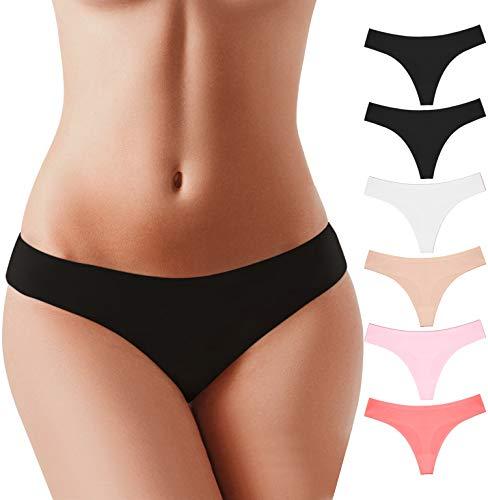 BUBBLELIME XS-XL Sport Thongs Panties_SET1 M(1)_6 Pack (2 Black 1 White 1 Skin 1 INDIPINK 1 CRUSHCORAL)_Bonded