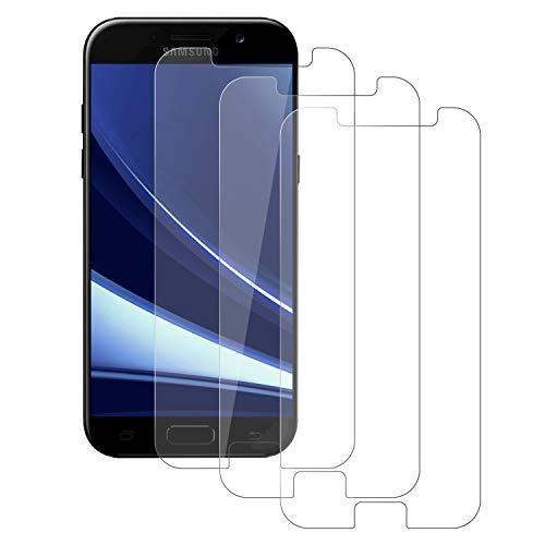 DOSMUNG Cristal Templado para Samsung Galaxy A5 2017, [3 Pack] Full-Cover Vidrio Templado Protector de Pantalla para Samsung Galaxy A5 2017, Alta Definicion, 9H esistente a Arañazos