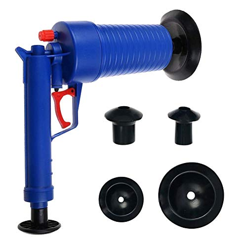 Toilet Plunger Air Drain Blaster High Pressure Plunger Hose Cleaner Drain Cleaning Tool Kitchen Sink Sewer Dredge Tools