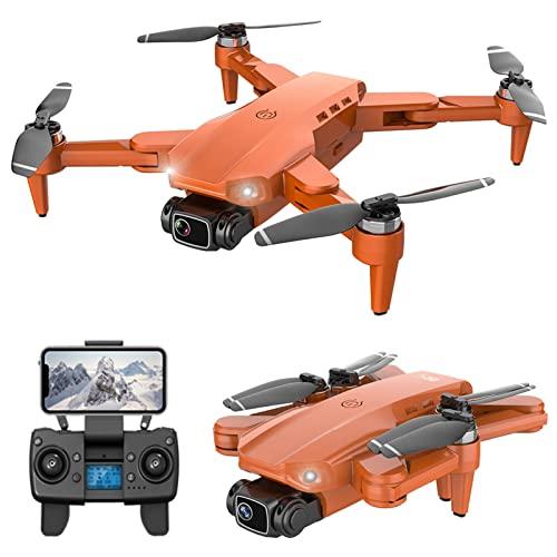 JJDSN Drone GPS con cámara Dual 4K para Adultos y niños WiFi FPV Video en Tiempo Real Motor sin escobillas Cuadricóptero RC Plegable 84 Mins Vuelo, Batería3, Retorno automático, Estuche de transpo