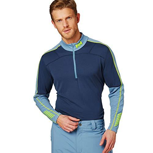Helly Hansen HH LIFA Active 1/2 Zip Camiseta Térmica, Hombre, 603 North Sea Blue, XL