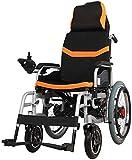 WXDP Autopropulsado Plegado eléctrico y Viajes Plegado eléctrico Eléctrico Ligero Ajustable Seguro y fácil de Conducir para Personas discapacitadas Viajes cómodos y segur