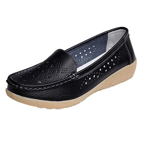 。◕‿◕。 Meilleure Vente! LuckyGirls Sandales Chaud Vendre Femmes Pois Creux Chaussures de Sport D'été Automne Pente avec des Simples Femme BohèMe D'éTé Dames Chaussures Plates 35-44