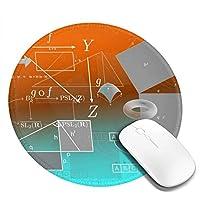 マウスパッド 円形 かわいい オフィス最適 幾何 数学 方程式 理学 個性ゲーミング エレコム 防水性 耐久性 滑り止め 多機能 おしゃれ ズレない 直径20cm