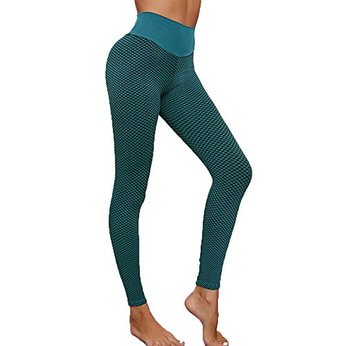 UXTX Sexy Shark Scales High Waist Leggings, Womens Bubble Hip Butt Lifting, Womens Comfortable High Waist Seamless Butt Lifting Leggings (Green, XXL)