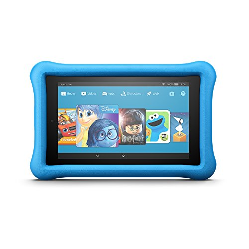 """All-New Fire 7 Kids Edition Tablet, 7"""" Display, 16 GB, Blue Kid-Proof Case"""