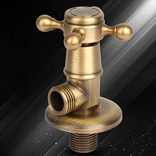 Válvula triangular para baño, válvula triangular de latón de alta durabilidad, estilo europeo, práctica para múltiples balcones, baño, cocina