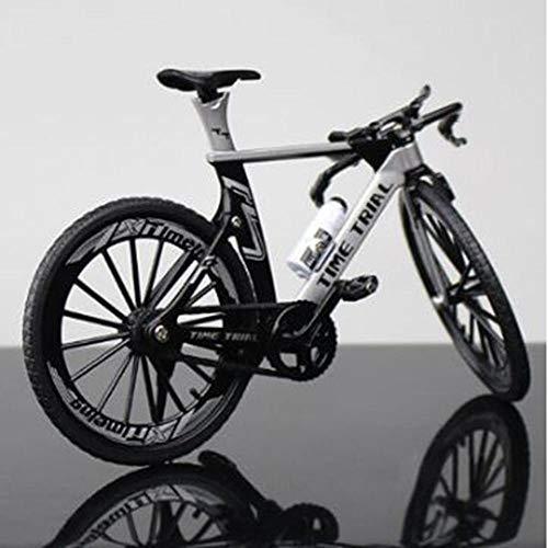 klkll Metall Modell Metall Gebogene Rennrad Diecast Mountainbike Modell Spielzeug Cross Bike Replica Collection Modell Kinder Geschenke