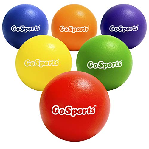 small Set of 6 GoSports 7 inch inflatable balls including ball pump and mesh bag