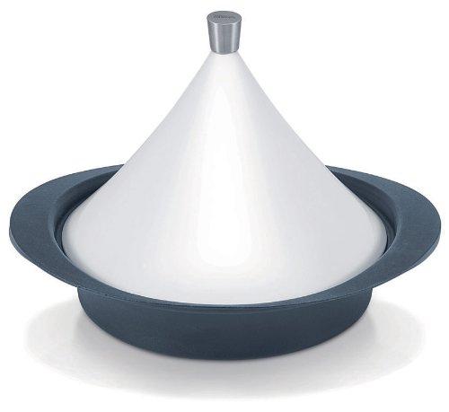 Beka 16303484 Tajine en fonte avec couvercle en céramique blanc de 28 cm