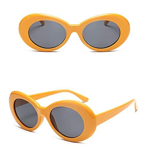 Moda Gafas Gafas Hombres Mujeres Diseñador De La Marca De Lujo Gafas De Sol Ovaladas Mujer Hombre Gafas De Sol Uv400 Naranja