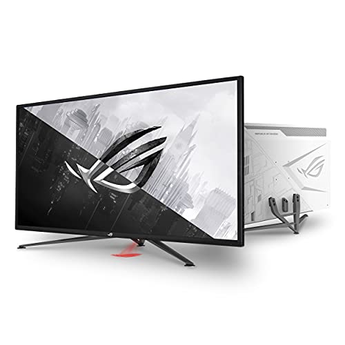 "ASUS ROG Strix 43"" 4K HDR DSC Gaming Monitor (XG43UQ) - UHD (3840 x 2160), 144Hz, 1ms, HDMI 2.1, Extreme Low Motion Blur Sync, FreeSync Premium Pro, DisplayHDR1000, DCI-P3 90%, DisplayPort, USB"
