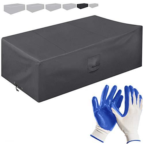 Funda Protectora para Muebles de jardín 170 * 100 * 70cm-recubierta de PVC-Impermeable/Resistente a los Rayos UV/Impermeable-con Aberturas de ventilación-Bonus: Guantes de jardinería