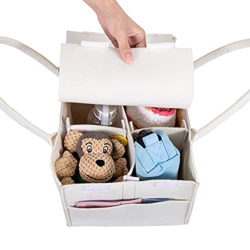 おむつストッカーおむつバッグ収納ケース折りたたみ収納ボックスベビー赤ちゃんカゴバスケットベビー用品収納バッグおもちゃ小物入れ出産祝い(ふた付き)