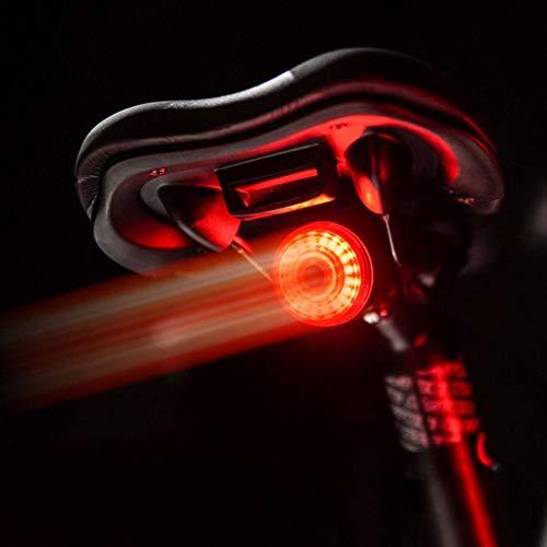ENticerowts Fahrrad-Rücklicht, intelligentes Induktionslicht, LED-Bremslicht, USB-Ladung, Sicherheits-Rücklicht für Laufen, Radfahren, Wandern, Beleuchtung für Werkzeug, Sattelhalterung.
