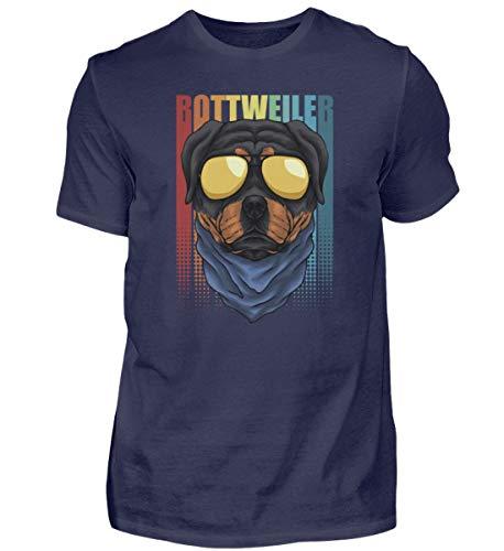 Rottweiler - Camiseta retro para hombre con gafas de sol Azul (Oxford Blue). XXXXL