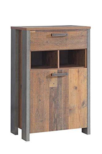 Schuhschrank Kommode Clif 1-TRG. Optik: Old Wood Vintage von Forte