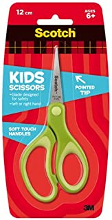 Scotch Kids Pointed Tip Scissors with Soft Touch, 5 Inches (1442P) (Colors may vary)
