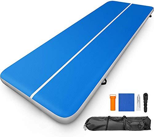 ZGYQGOO 13ft / 400cm Air Track Boden Tumbling Pad Aufblasbare Gym Yoga Matte PVC Gymnastic AirTrack für Training/Cheerleading