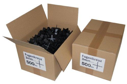Fugenkreuze 3mm, Bauhöhe 20mm, 500 Stück im Karton