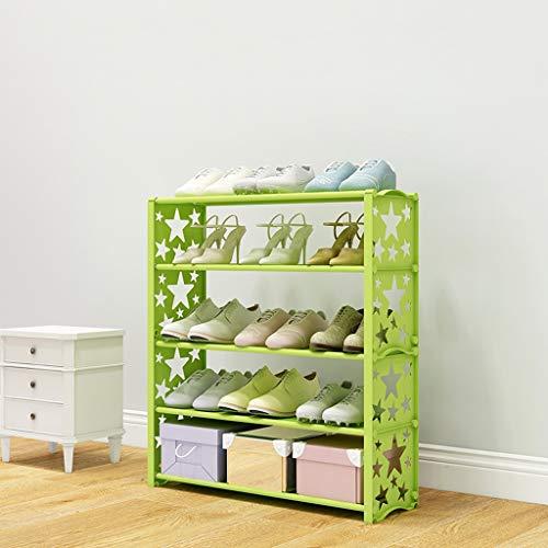 XXHDEE schoenenkast met vijf lagen, eenvoudige slaapkamerfamilie, gang, samengesteld, schoenen, ademend, model: Stella 60 x 19 x 70 cm
