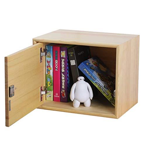 boîte de rangement en bois avec serrure, boîte de rangement bina avec porte latérale, panier de rangement décorations pour la maison/tiroirs de rangement (taille : S)