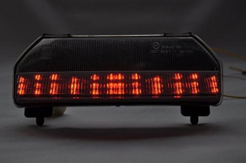 Topzone lighting Feu arrière LED Clear Lens pour moto - Avec clignotants intégrés - Pour Honda 2009-2012 FURY
