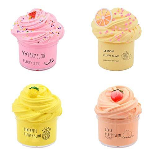 Haijun - Masilla suave y no pegajosa, 4 paquetes de pasta suave para aliviar el estrés, para niños, adolescentes, adultos, para aliviar el estrés, ejercicios de manos y dedos