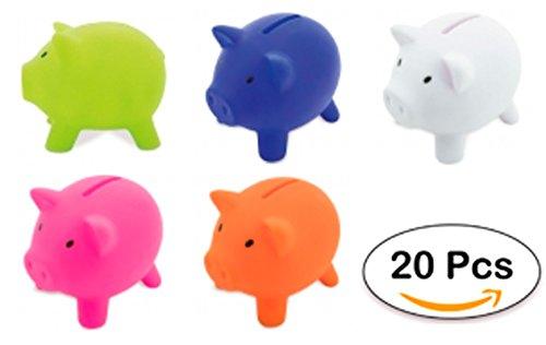 DISOK Lote 20 Huchas Infantiles Piggy - Huchas Cerditos