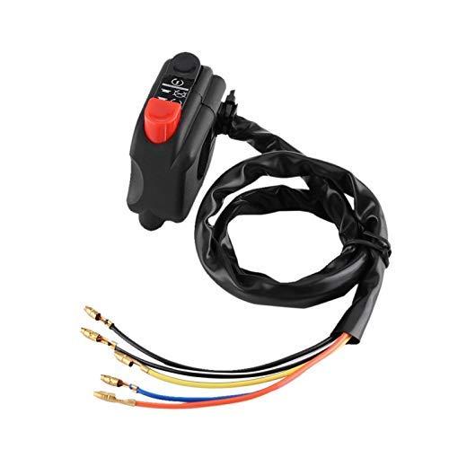 Chipoee Dispositivo de Control del Manillar de 7/8 Pulgadas con Cable de conexión para Control del Interruptor del Manillar de la Motocicleta