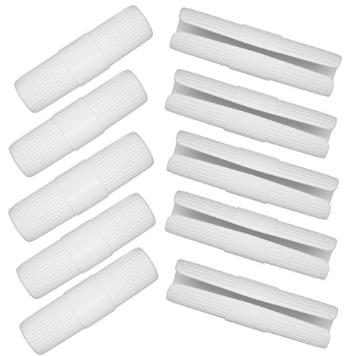 I FRMMY 10 Pieces Bed Sheet Grippers Fasteners Keep Sheets Snug - Fit for Various Mattresses with Raised Edge - White