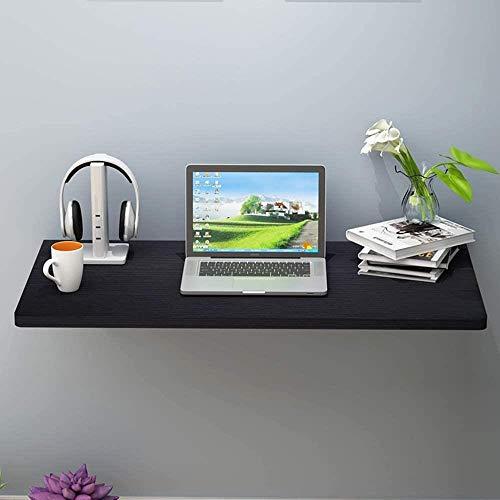 JIADUOBAO Mesa de pared plegable, mesa de cocina, mesa de madera maciza, mesa de pared para ordenador portátil, escritorio de ordenador, escritorio de escritura (color: negro, tamaño: 50 x 70 cm)