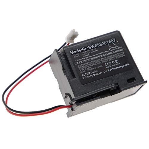 vhbw Batería compatible con Mitsubishi MR-BAT6V1SET-A Controlador Lógico Programable, PLC (1450mAh, 6V, Li-MnO2)