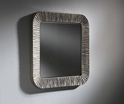 DISARTE - Miroirs modernes - Miroir Elba carré argent (90 x 90)