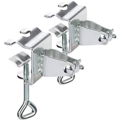 com-four® 2X Sonnenschirmhalter, Schirmständer für Balkon, Terrasse oder Tisch - Für Schirmstöcke 22-28 mm und Plattenstärken bis 35 mm (02 Stück - Balkon-Schirmhalter)