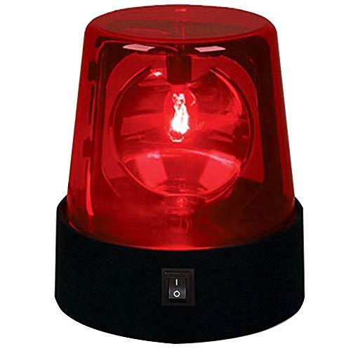 ROKFSCL Warnleuchten LED Warnlicht Rundumleuchte Rotes Leuchtfeuer, 360 Grad Drehung LED Rot blinkendes DJ-Blitzlicht Blitzlichter für Club, DJ-Show, Home Party, Ballsaal