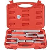 CCLIFE Kit di attrezzi a snodo sferico Giunto sferico di taglio forchetta, tirante e braccio a 5 pezzi - separatore per auto e camion leggeri