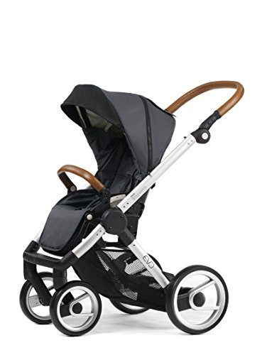 Review Mutsy Evo Urban Nomad Stroller, Silver Chassis, Dark Grey