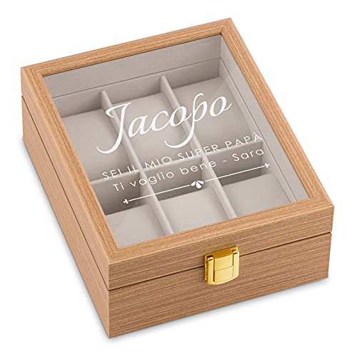 Maverton scatola porta orologi - con incisione...