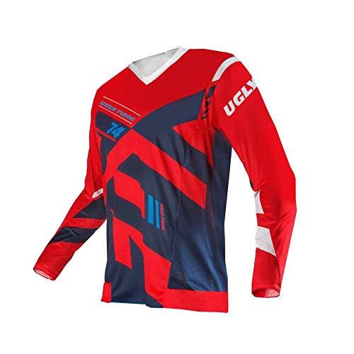 Uglyfrog Designs Bike Wear Men's Downhill Jersey Rage MTB Cycling Top Cycle Motocross Mountain Bike Shirt Long Sleeve MTJ18