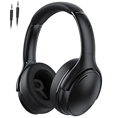 Noise Cancelling Headphones, Bluetooth Headphones Over Ear with CVC8.0 Microphone, 35H Playtime, Fast Charge, Hi-Fi Deep Bass, Memory Foam Ear Cups for Adults, Kids, Home Office, Travel, TV