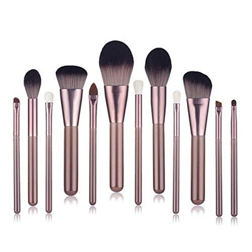 PoplarSun 12pcs Yeux Professionnels Maquillage Pinceaux poignée en Bois Pinceau Fard à paupières surligneur Blending Poudre pinceaux de Maquillage