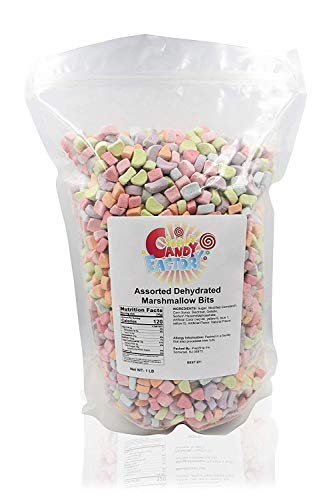Sarah's Candy Factory Assorted Dehydrated Marshmallow Bits in Resealable Bag, 1lb by Sarah's Candy Factory