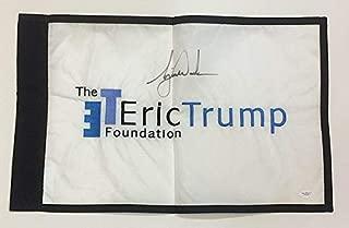 Tiger Woods Autographed Signed Eric Trump Etf Foundation 14X22 Golf Flag Autograph - JSA Authentic