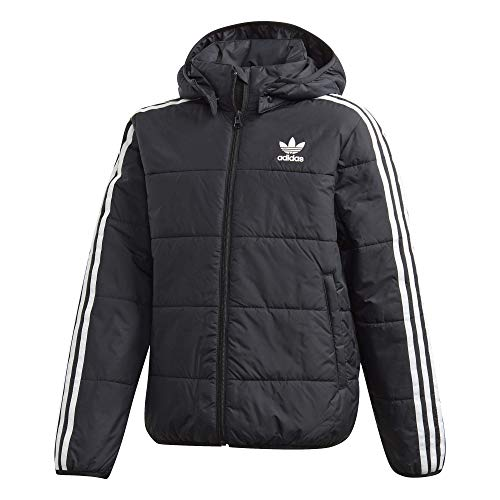 adidas Jungen Jacke Padded, Black/White, 176, GD2699