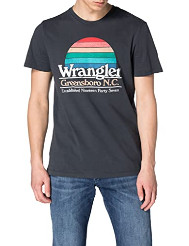 Wrangler Graphic tee Camiseta, Azul Marino, XXL para Hombre