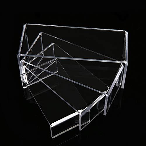 JKGHK Expositor Soporte De Acrílico Transparente Adecuado para Exhibición De Artesanías Y Joyas (4 Piezas)