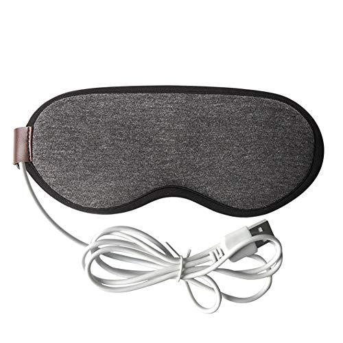 PDFF Beheizte Augenmaske mit feuchter Wärme zur Behandlung von Blepharitis, Gerstenkorn und Meibom-Drüsen-Dysfunktion. Wärmetherapie der Drüsen und zur Befreiung vom Trockene-Augen-Syndrom,Grau